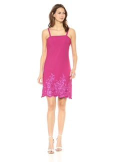 Betsey Johnson Women's Scuba Crepe Embroidered A Line Dress