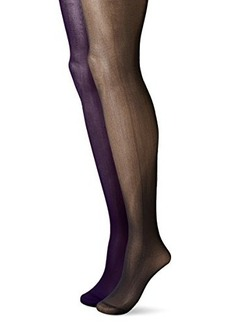 Betsey Johnson Women's Semi-Opaque Fashion Tights In Bold Solid Colors   (Pack of 2)
