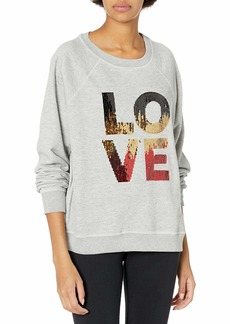 Betsey Johnson Women's Sequin Love Sweatshirt  S