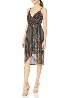 Betsey Johnson Women's Sequin Wrap Dress