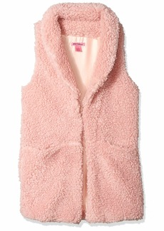Betsey Johnson Women's Sherpa Vest blush M/L