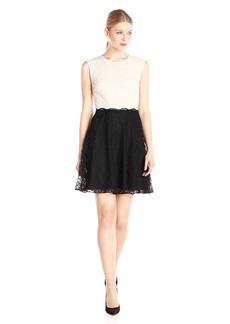 Betsey Johnson Women's Short Sleeve Lace Shift Dress