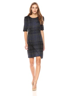 Betsey Johnson Women's Short Sleeve Plaid Dress