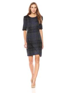 Betsey Johnson Women's Short Sleeve Plaid Dress