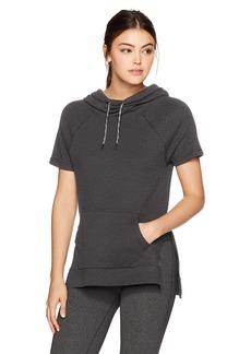 Betsey Johnson Women's Short Sleeve Side Slit Hoodie  S