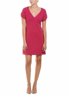 Betsey Johnson Women's Short Sleeve Stretch Crepe Dress with Cherry Lining
