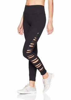 Betsey Johnson Women's Side Power MESH Insert 7/8 Legging  Extra Large