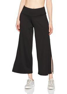 Betsey Johnson Women's Side Slit Wide Leg Stretch Pant  L