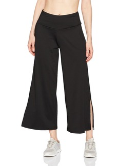 Betsey Johnson Women's Side Slit Wide Leg Stretch Pant  M