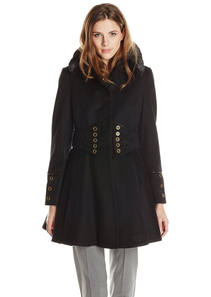 f37acb074ac Betsey Johnson Betsey Johnson Women s Single Breasted Wool Coat with ...