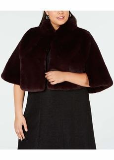 Betsey Johnson Women's Size Faux Fur Cape (Plus)