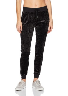 Betsey Johnson Women's Skinny Crushed Velvet Sweatpant  XL