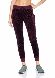 Betsey Johnson Women's SKINNY CRUSHED VELVET SWEATPANTS    EXTRA SMALL