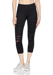 Betsey Johnson Women's Slashed Knee Crop Legging  XS