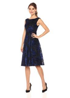 Betsey Johnson Women's Sleeveless Burnout Midi Dress