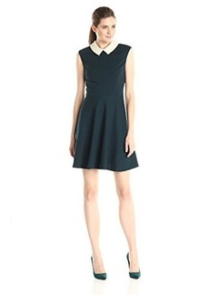 Betsey Johnson Women's Sleeveless Pearl Collar Fit Flare Dress