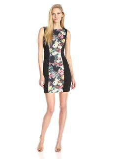 Betsey Johnson Women's Sleeveless Printed Jacquard Sheath Dress