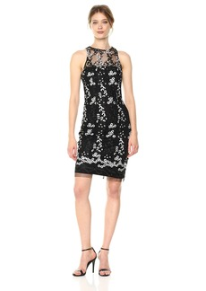 Betsey Johnson Women's Sleevless Embroidered Sheath Dress