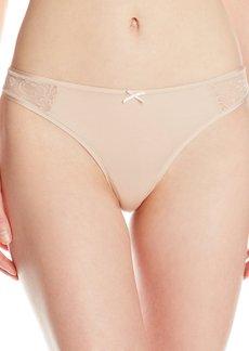 Betsey Johnson Women's Slinky Knit Lace Thong Panty