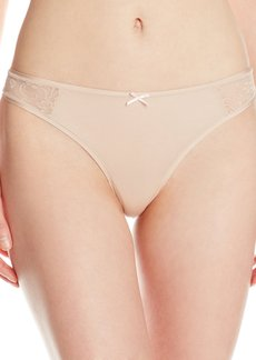 Betsey Johnson Women's Slinky Knit Lace Thong Panty