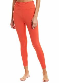 Betsey Johnson Women's Smocked Waist High Rise 7/8 Legging  Extra Large