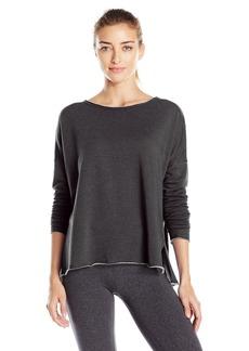 Betsey Johnson Women's Split Hem Pullover Stretch Fleece