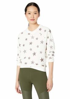 Betsey Johnson Women's Star Glitter Print Sweatshirt