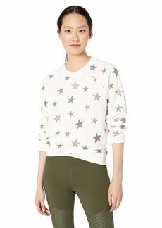 Betsey Johnson Women's Star Glitter Print Sweatshirt  Extra Large