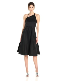 Betsey Johnson Women's Stretch Cotton Fit and Flare Halter Dress