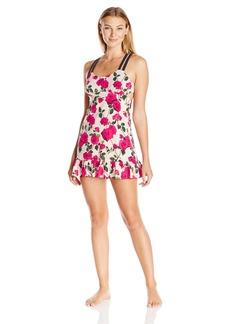 Betsey Johnson Women's Stretch Crepe Slip