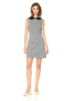 Betsey Johnson Women's Stretch Knit Houndstooth Sheath Dress