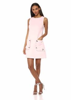 Betsey Johnson Women's Stretch Shift Dress with Pockets