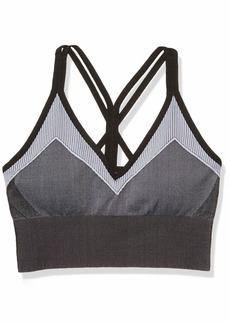 Betsey Johnson Women's Striped Strappy Extended Seamless Bra