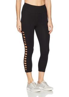 Betsey Johnson Women's Suede Crop Legging  Extra Large