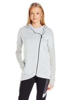 Betsey Johnson Women's Sweater Knit Fleece Back Hooded Jacket  XS