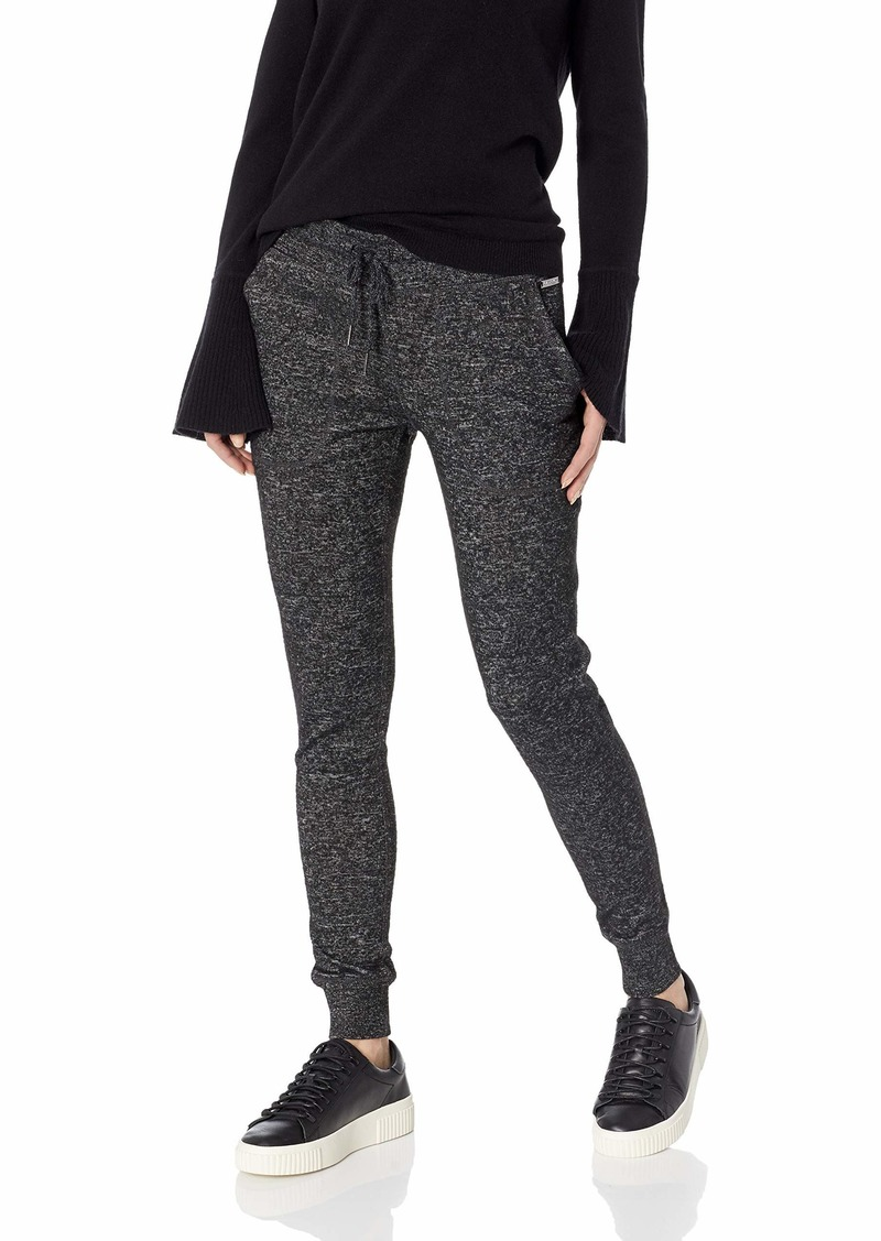 Betsey Johnson Women's Sweater Terry Rib Trim Sweatpant  L