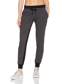 Betsey Johnson Women's Sweatpant Charcoal Heather Grey with Black Contrasts Extra Large