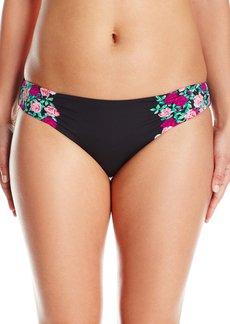 Betsey Johnson Womens Swimwear Ballerina Rose Hipster Bikini Bottom  M