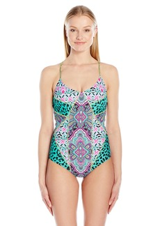 Betsey Johnson Womens Swimwear Women's Arabian Nights One Piece Swimsuit  S