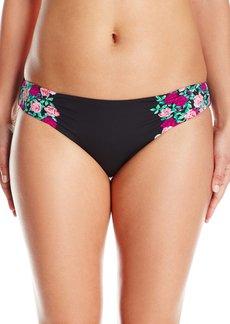 Betsey Johnson Womens Swimwear Women's Ballerina Rose Hipster Bikini Bottom  L