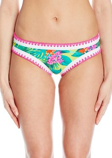 Betsey Johnson Womens Swimwear Women's Betsey's Tropical Escape Hipster Bikini Bottom LM/Pink S
