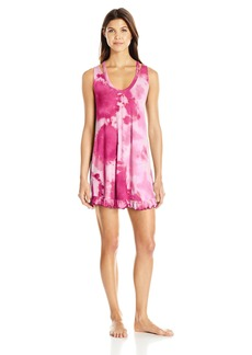 Betsey Johnson Women's Tie-Dye Ruffle Sleepshirt  L