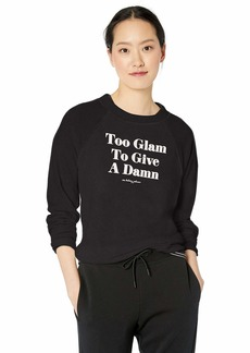Betsey Johnson Women's Too Glam Sweatshirt  Extra Small