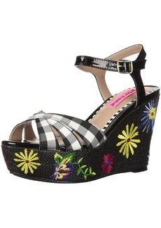 Betsey Johnson Women's Traci Wedge Sandal   M US
