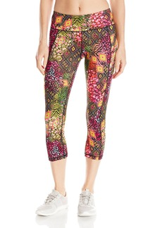Betsey Johnson Women's Tribal Cheetah Printed Crop Legging