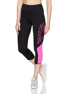 Betsey Johnson Women's Tropic Mesh Overlay Crop Legging  M