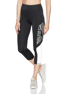 Betsey Johnson Women's Tropic Mesh Overlay Crop Legging  S