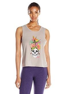 Betsey Johnson Women's Tropicana Skull Acid Wash Muscle Tee