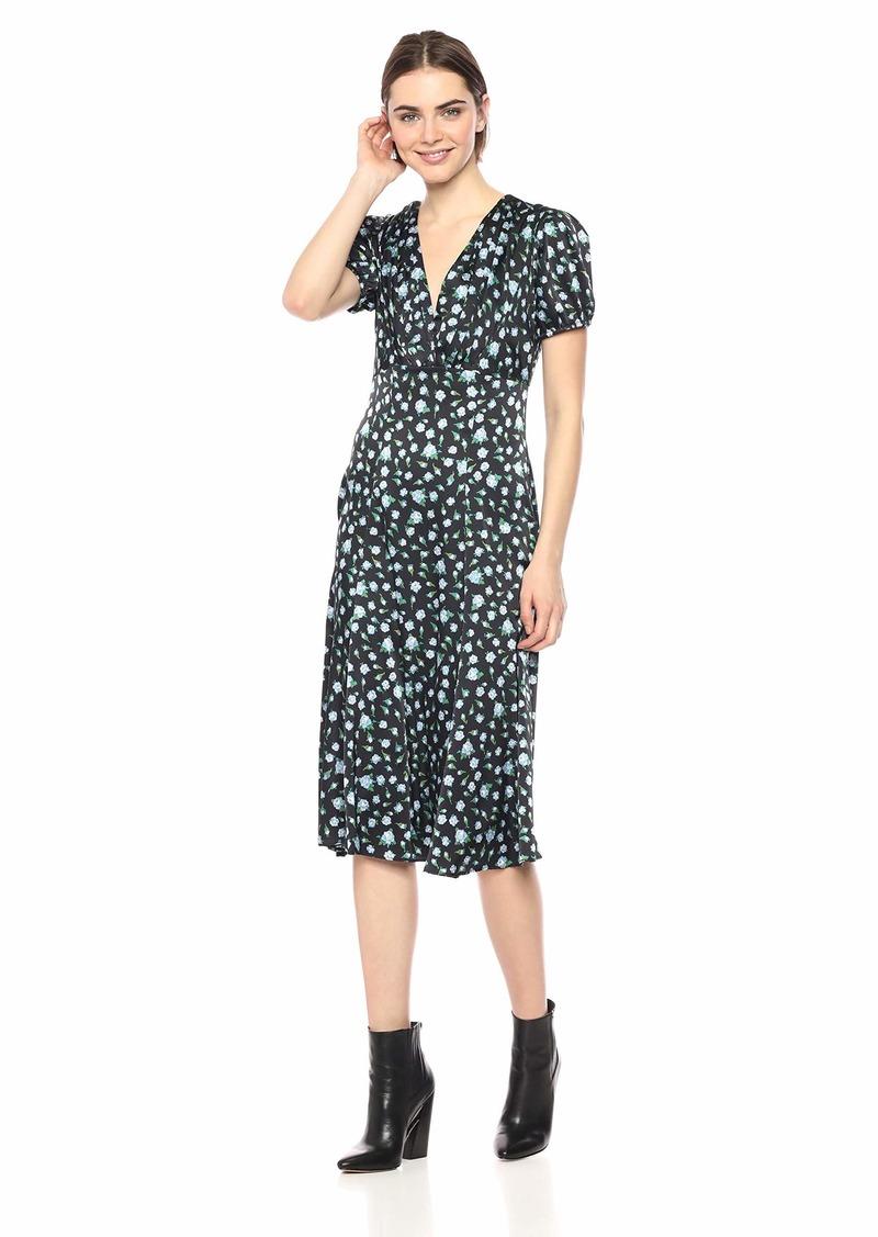 Betsey Johnson Women's V Neck Maxi Dress