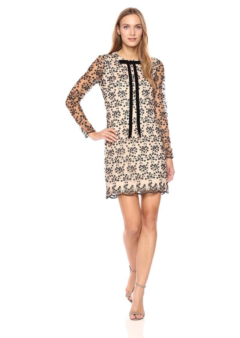 75286697 Betsey Johnson Betsey Johnson Women's Velvet Burnout Long Sleeve Dress